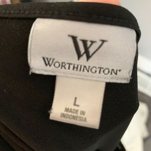 Worthington Tops - Worthington, Black short sleeve blouse, sz L